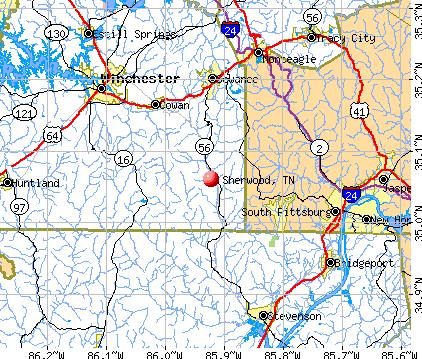 Sherwood, TN map