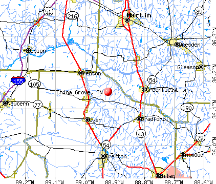 China Grove, TN map