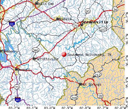 Southwest Nolichucky, TN map