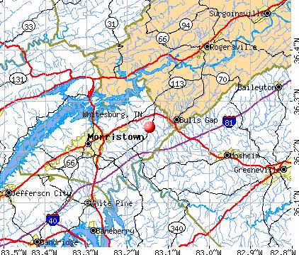 Whitesburg, TN map