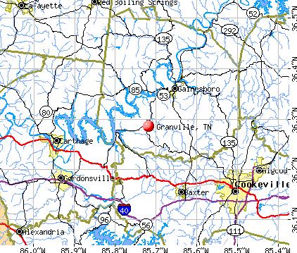 Granville, TN map