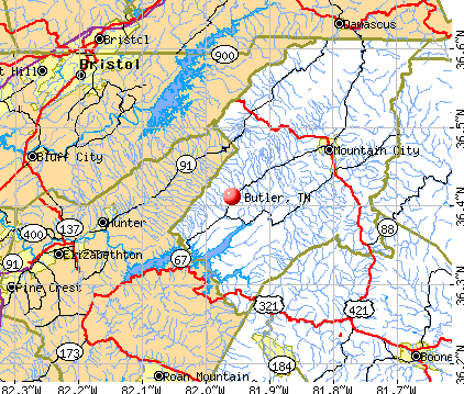 Butler, TN map