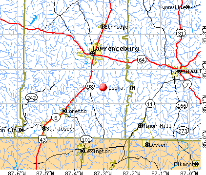Leoma, TN map