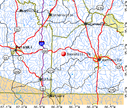 Boonshill, TN map