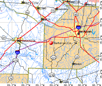 Huntersville, TN map