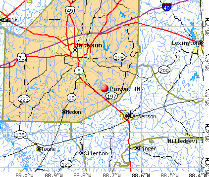 Pinson, TN map