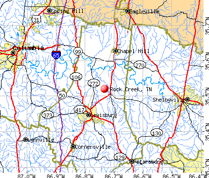 Rock Creek, TN map