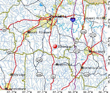 Culleoka, TN map