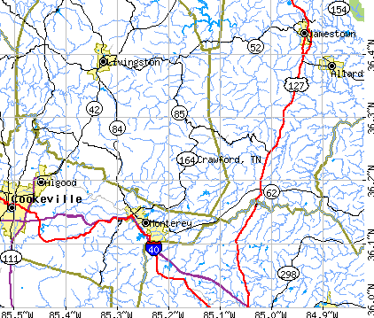 Crawford, TN map