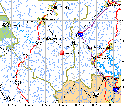 Norma, TN map