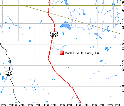 Madeline Plains, CA map