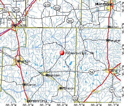 Palmersville, TN map