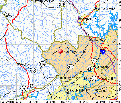 New River, TN map