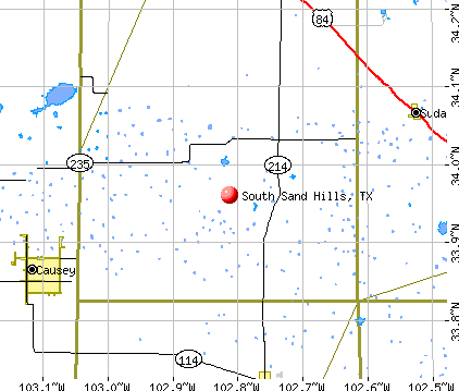 South Sand Hills, TX map
