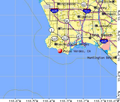 Palos Verdes, CA map