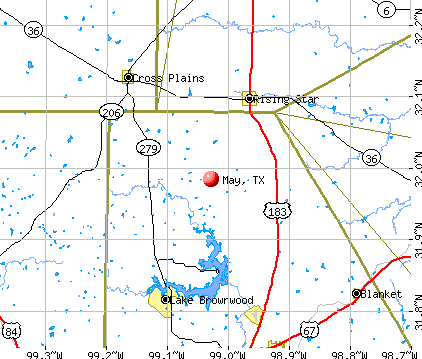 May, TX map
