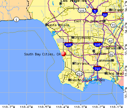South Bay Cities, CA map