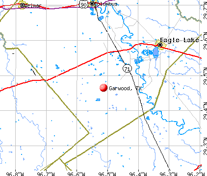 Garwood, TX map