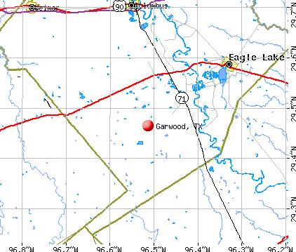 Garwood, TX map