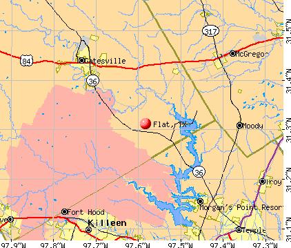 Flat, TX map