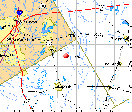 Perry, TX map