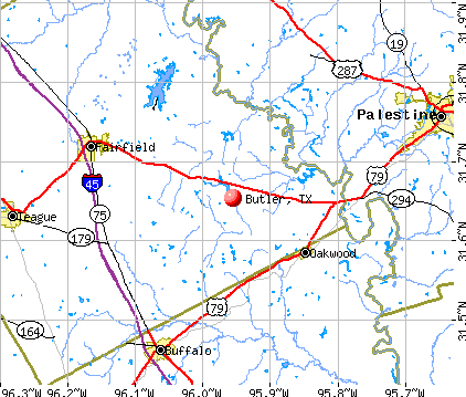 Butler, TX map