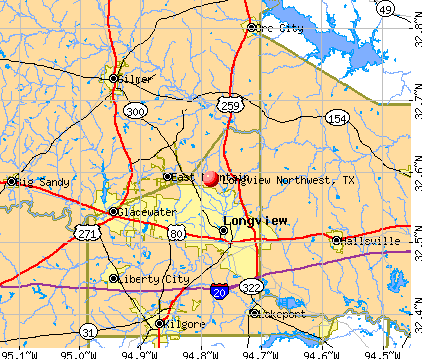 Map Of Northwest Texas.Longview Northwest Texas Tx Profile Population Maps Real