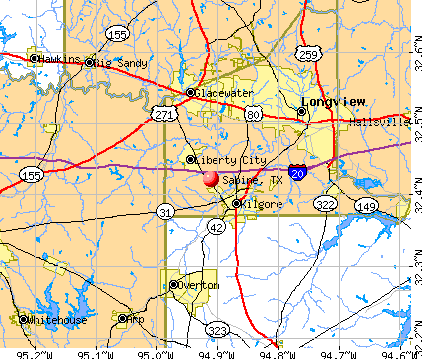 Sabine, TX map