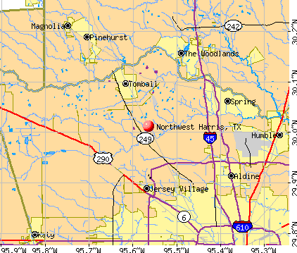 Northwest Harris, TX map