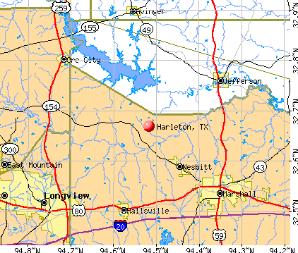 Harleton, TX map