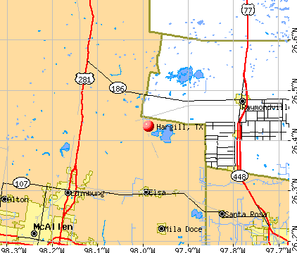 Hargill, TX map
