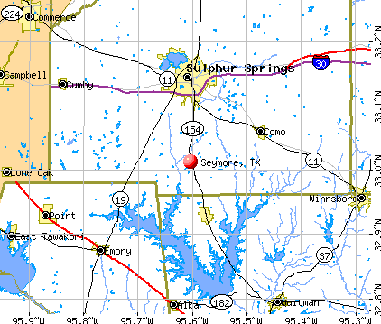 Seymore, TX map
