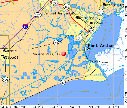 Sabine Pass, TX map