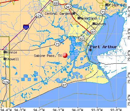 Sabine Pass, TX map