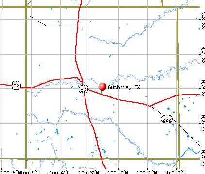 Guthrie, TX map