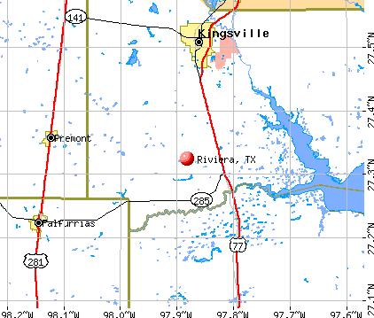 Riviera, TX map