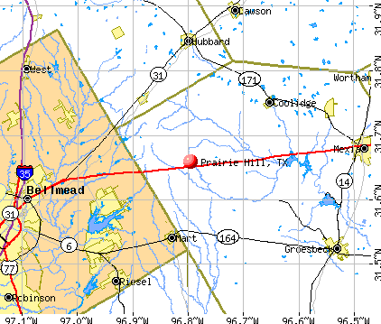 Prairie Hill, TX map
