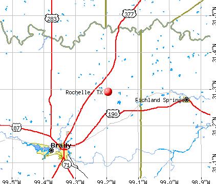 Rochelle, TX map