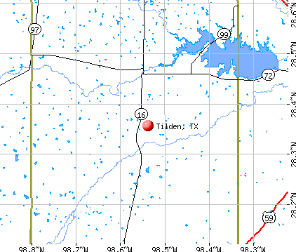 Tilden, TX map