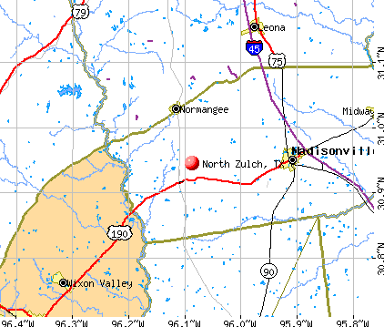 North Zulch, TX map