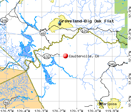 Coulterville, CA map