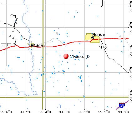 D'Hanis, TX map