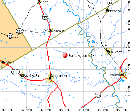 Burlington, TX map