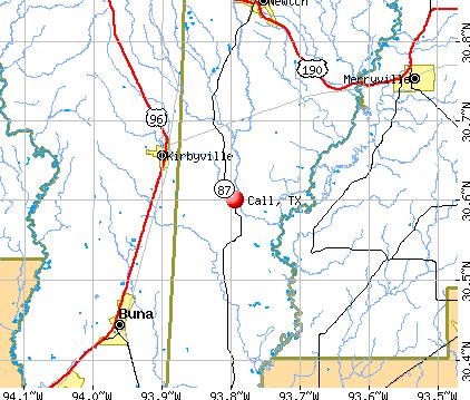 Call, TX map