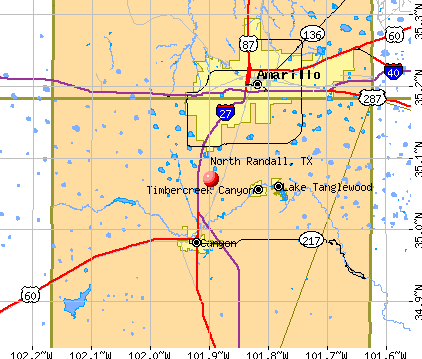 North Randall, TX map