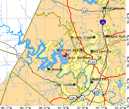 Map Of Northwest Texas.Travis Northwest Texas Tx Profile Population Maps Real Estate