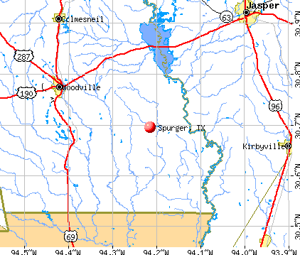 Spurger, TX map