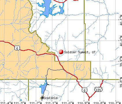 Soldier Summit, UT map