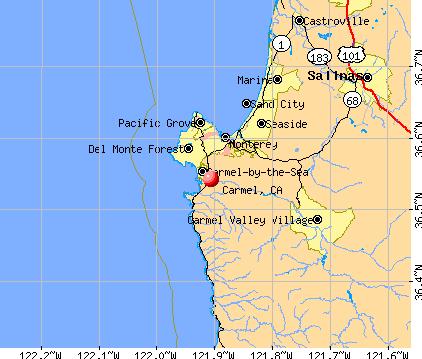 Carmel, CA map