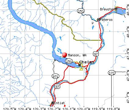 Manson, WA map